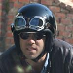 Ryan Reynolds on his motorcycle in Los Angeles  112182
