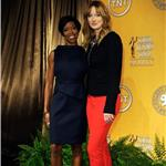 Regina King and Judy Greer at the 18th Annual Screen Actors Guild Award Nominations 100556