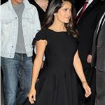 Salma Hayek and Antonio Banderas at photo call for Puss in Boots  in Poland 95130