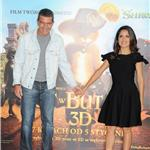Salma Hayek and Antonio Banderas at photo call for Puss in Boots  in Poland 95133
