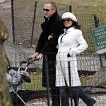Salma Hayek with baby Valentina and Francois in the park in New York 17068