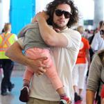 Sam and Aaron Taylor-Johnson arrive in Toronto with their daughters  125238