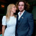 Sam Taylor-Wood and actor Aaron Taylor-Johnson attend the Anna Karenina premiere during TIFF 125793