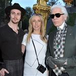 Sam Taylor-Wood and Aaron Johnson attend the Chanel 2012/13 Cruise Collection at Chateau de Versailles with Karl Lagerfeld 114534