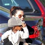 Sandra Bullock picks up Louis from school  109598