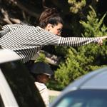 Sandra Bullock picks up Louis from school  109601