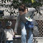 Sandra Bullock picks up Louis from school  109604