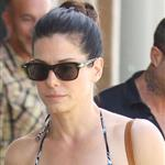 Sandra Bullock antique shopping with her son Louis  112890