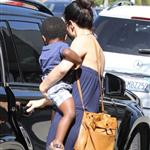 Sandra Bullock antique shopping with her son Louis  112895