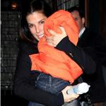 Sandra Bullock in New York with baby Louis 72245