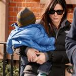Sandra Bullock with Louis on the day Jesse James announces engagement  77293