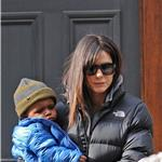 Sandra Bullock with Louis on the day Jesse James announces engagement  77295