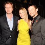Scarlett Johansson and Joseph Gordon-Levitt with Christopher Nolan at the Spike Awards in 2010 96599