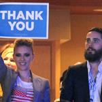 Scarlett Johansson and Jared Leto together at the DNC 125503