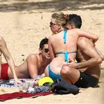Scarlett Johansson and boyfriend Nate Naylor on the beach on Hawaii  105770