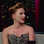 Scarlett Johansson appears on The Late Show With David Letterman 100526