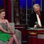 Scarlett Johansson appears on The Late Show With David Letterman 100528