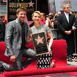 Scarlett Johansson is honored on the Hollywood Walk of Fame with Jeremy Renner 113201