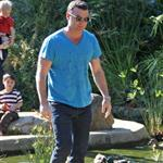 Liev Schreiber with son Sasha at park in LA  31709