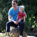 Liev Schreiber with son Sasha at park in LA  31708