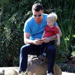Liev Schreiber with son Sasha at park in LA  31707