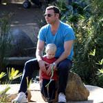 Liev Schreiber with son Sasha at park in LA  31705