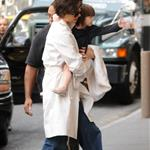 Katie Holmes and Suri Cruise head to All My Sons rehearsal with Suri's monogrammed bag 24892