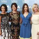 Vanessa Hudgens, Selena Gomez, Rachel Korine, and Ashley Benson at The 69th Venice Film Festival for the Spring Breakers Photocall  125166