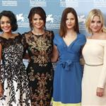 Vanessa Hudgens, Selena Gomez, Rachel Korine, and Ashley Benson at The 69th Venice Film Festival for the Spring Breakers Photocall  125167