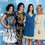Vanessa Hudgens, Selena Gomez, Rachel Korine, and Ashley Benson at The 69th Venice Film Festival for the Spring Breakers Photocall  125173