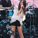 Selena Gomez performs at Santa Monica Mall June 2011 87502