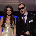 Selena Gomez presents at Grammy Awards with Donnie Wahlberg  79288