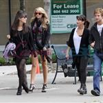 Christian Serratos and Michael Welch with his girlfriend also out for some shopping 46388