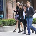 Christian Serratos and Michael Welch with his girlfriend also out for some shopping 46390
