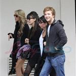 Christian Serratos and Michael Welch with his girlfriend also out for some shopping 46391
