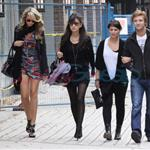Christian Serratos and Michael Welch with his girlfriend also out for some shopping 46392