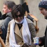 Katie Holmes on set of The Extra Man with Paul Dano  33766
