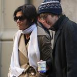Katie Holmes on set of The Extra Man with Paul Dano  33767