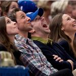 Seth Meyers and Jason Sudeikis double date at Knicks game? 75698