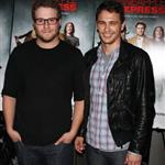 Seth Rogen James Franco Rosie Perez at NY premiere of Pineapple Express  23343