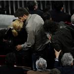 Shakira kisses Gerard Pique during La Liga match between Barcelona and Osasuna 83724