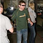 Sharlto Copley arrives with girlfriend at LAX June 2010  63594