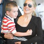 Sharon Stone and her son Quinn arrive in Paris 119320