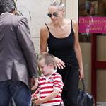 Sharon Stone and her son Quinn arrive in Paris 119329