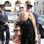 Sharon Stone and her son Quinn arrive in Paris 119331