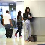 Jessica Biel at Miami airport posing with book before trip to Caribbean 83482
