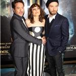 Noomi Rapace, Robert Downey Jr, and Jude Law at the premiere of  Sherlock Holmes: A Game Of Shadows in London 100220