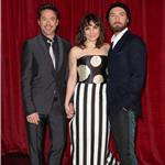 Noomi Rapace, Robert Downey Jr, and Jude Law at the premiere of  Sherlock Holmes: A Game Of Shadows in London 100222