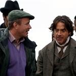 Robert Downey Jr Jude Law Guy Ritchie shooting Sherlock Holmes 2 in London  71027