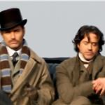 Robert Downey Jr Jude Law Guy Ritchie shooting Sherlock Holmes 2 in London  71030